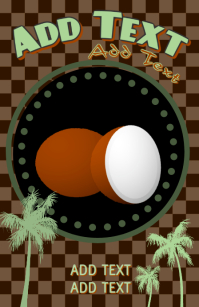 coconuts and palm trees template