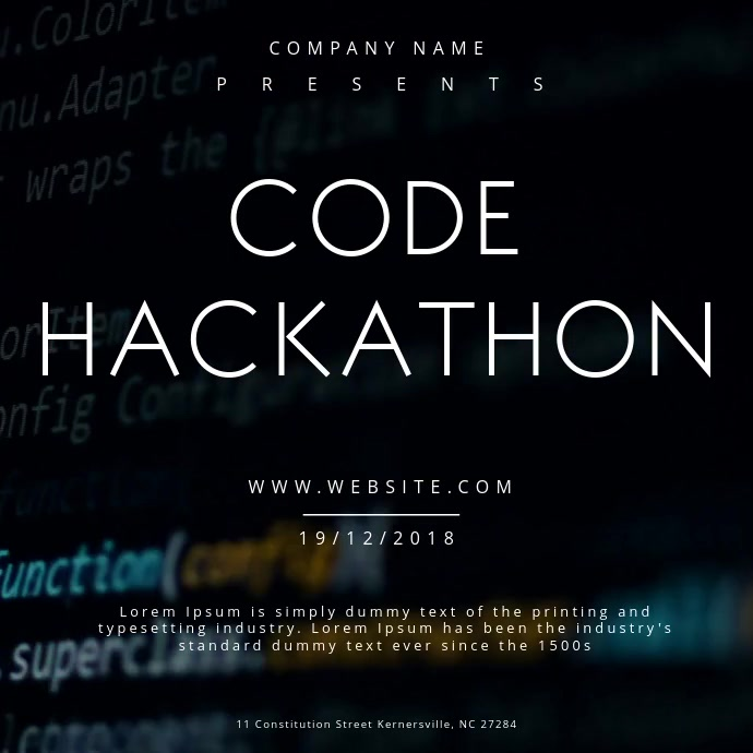Code Hackathon Event Poster
