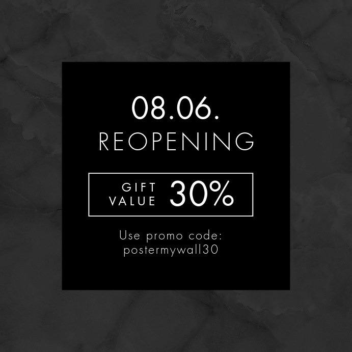 Code Marble Reopening Instagram Promo Banner template