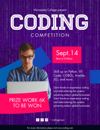 Coding Boot Camp Flyer Template Pamflet (Letter AS)