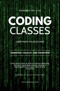 Coding Classes Flyer Design Template