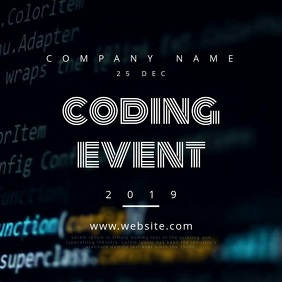 Coding Event Motion Poster