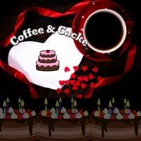 coffe & cake Logo template
