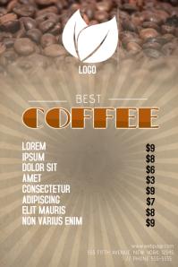 coffe menu template