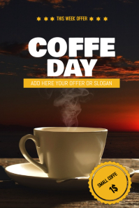 Coffe sale flyer template