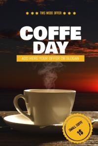 Coffe sale flyer template