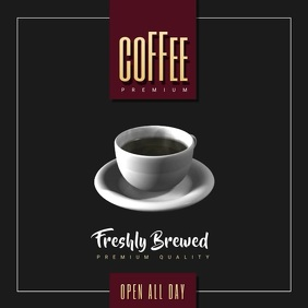Coffe Shop Video Ad Album Cover template