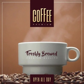 Coffe Shop Video Ad ปกอัลบั้ม template