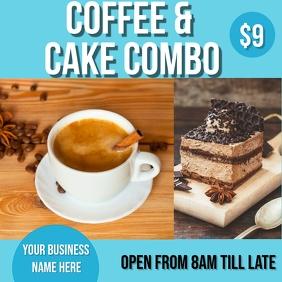 coffee & cake deal Instagram Plasing template