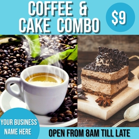 coffee & cake deal Instagram Post template