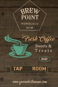 Coffee & Tap Room Poster