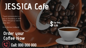 Coffee Ad Display digitale (16:9) template