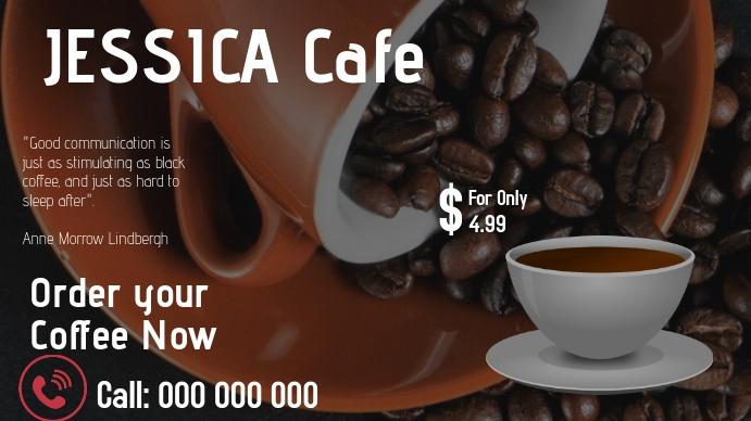 Coffee Ad Digitale Vertoning (16:9) template