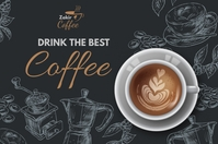 Coffee Ads Banner 4' × 6' template