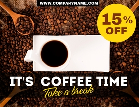 Coffee advertisement sale