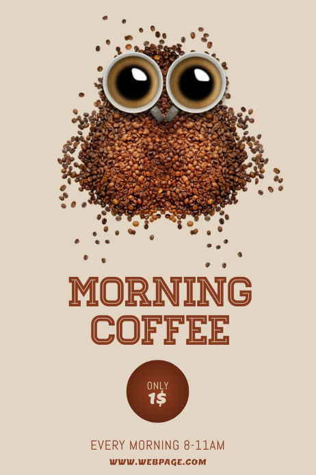 Coffee Advertising Offer Sale Morning Flyer Template