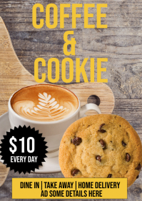Coffee And Cookie A5 template