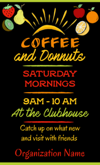 Coffee and Donuts Poster US Legal template