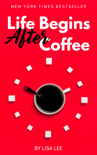 Coffee and Tea Funny Book Cover Обложка Kindle template