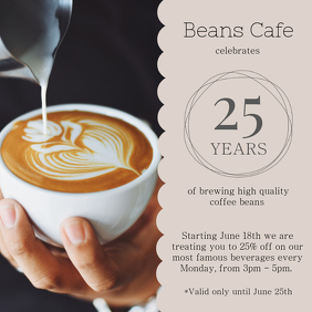 Coffee Anniversary Celebration Instagram Template