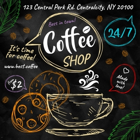 COFFEE BANNER Instagram Post template