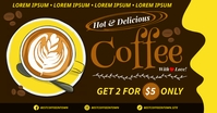 COFFEE BANNER Facebook Shared Image template