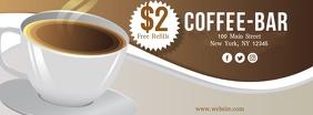 Coffee Bar Facebook Cover Photo template