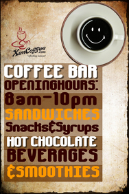 Coffee Bar flyer template