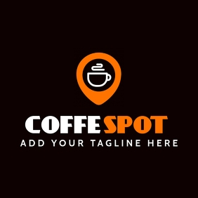 coffee bar icon logo template Logotipo