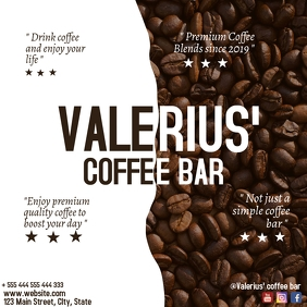 coffee bar instagram post advertisement template