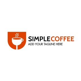 coffee bar logo icon template Logótipo