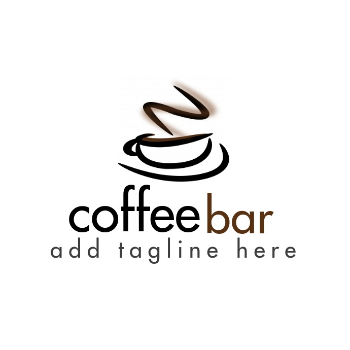 coffee bar logo template design 徽标