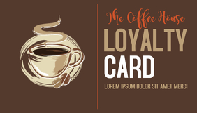 Coffee Bar Loyalty Card Template Cartão de visita