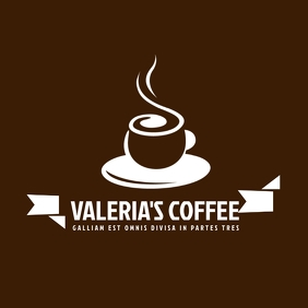 Coffee bar or place logo template design
