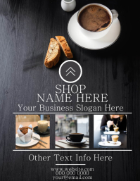 Coffee Bar Restaurant Flyer Template