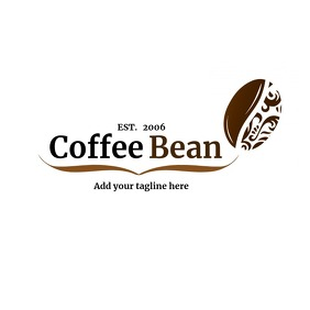 Coffee bean logo Logotipo template