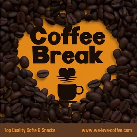 Coffee Break Beans Animation Square Ad template