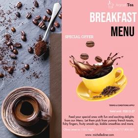COFFEE BREAKFAST RESTAURANT Instagram Post template