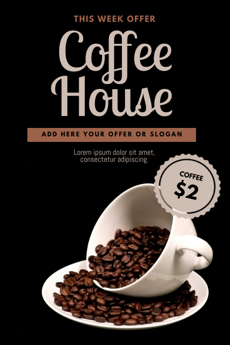 Coffee Cafe Flyer Design Template