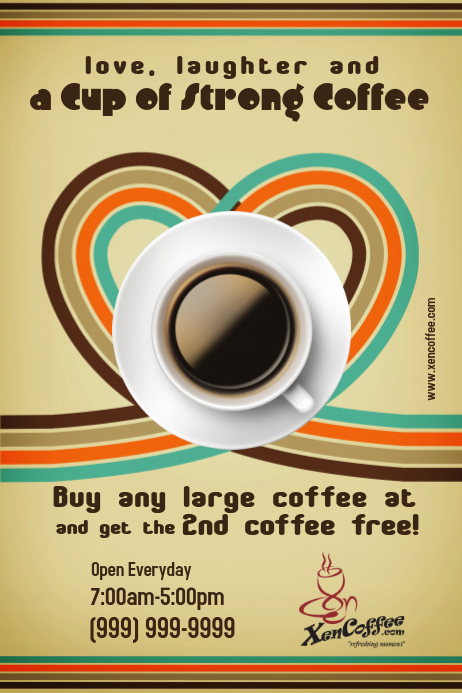 Customizable Design Templates For Coffee  Postermywall
