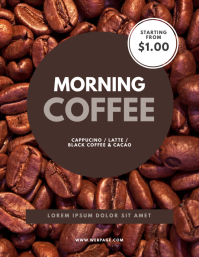 Coffee cafe flyer template