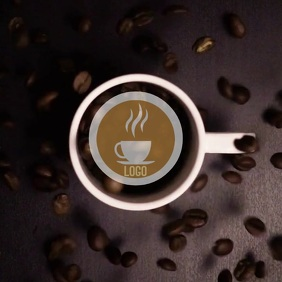 COFFEE CAFE LOGO SPACE DESIGN TEMPLATE FREE Square (1:1)