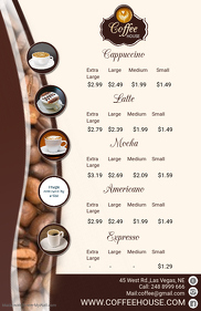 Coffee Cafe Menu Template