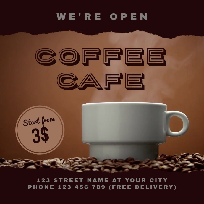 Coffee Cafe Shop Video Template