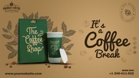 Coffee Cover Banner template