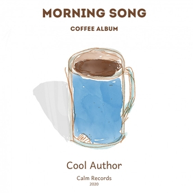 Coffee cover Albumcover template