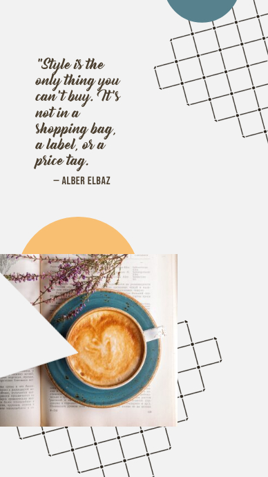 Coffee Cup Style Instagram-verhaal template