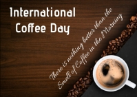 coffee day Briefkaart template