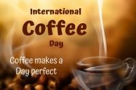 Coffee Day ป้าย template