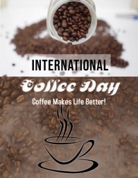 Coffee Flyer (format US Letter) template